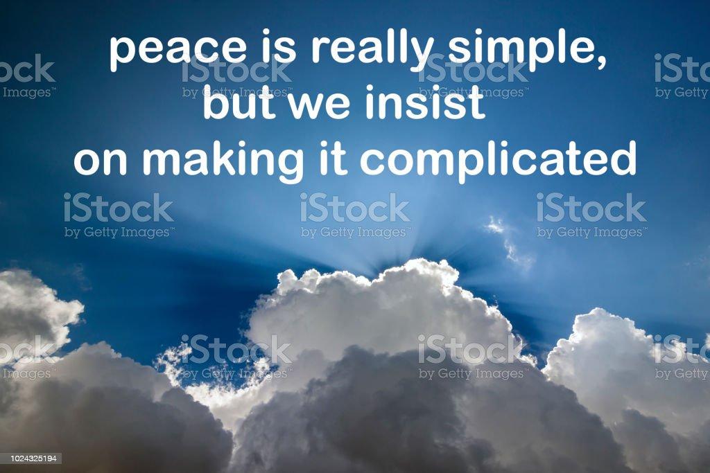 Leben Inspirierend Zitat Mit Frieden Ist Wirklich Einfach