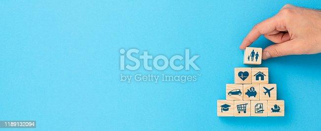 494997002 istock photo Life insurance concept. 1189132094