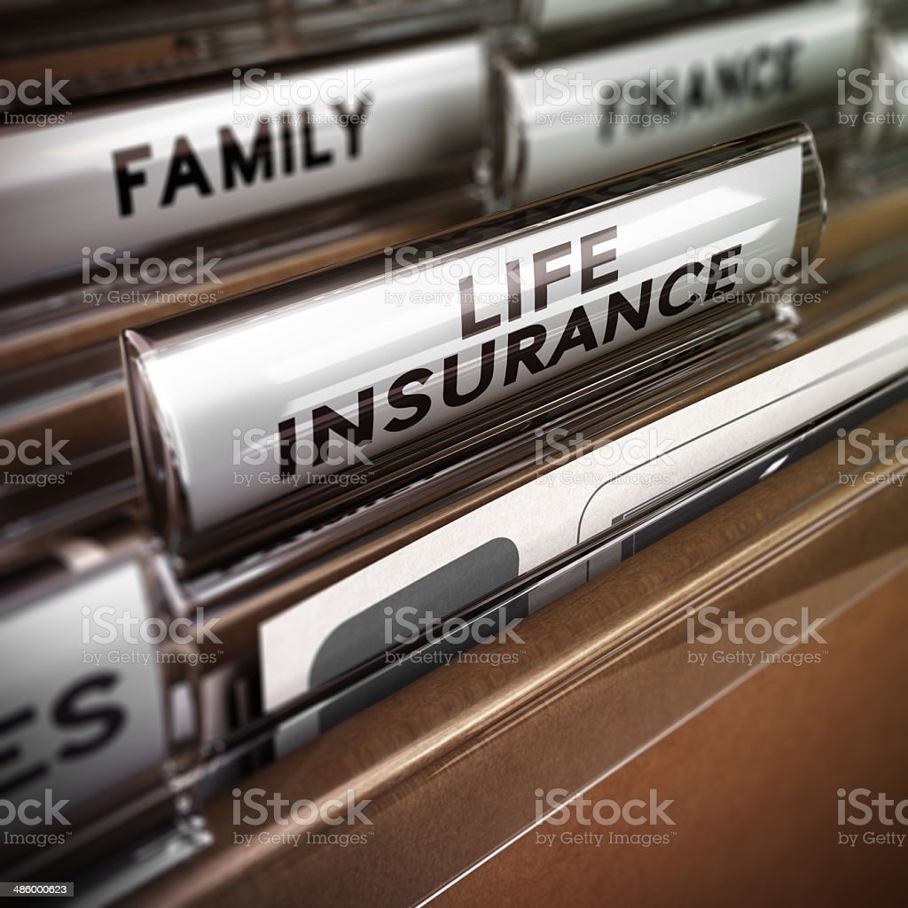 Life Insurance Contract stock photo