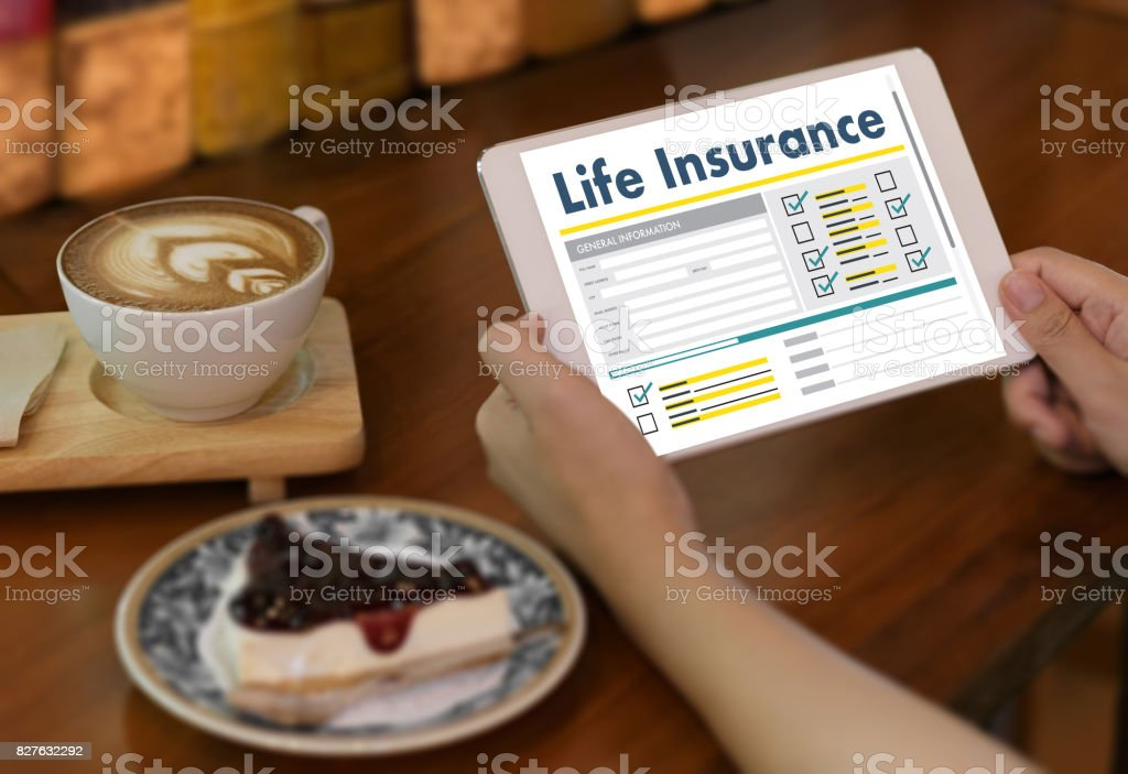 Life Insurance Medical Concept Health Protection Home House Car Life stock photo