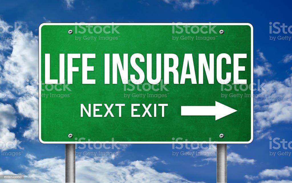 Life Insurance take the next exit stock photo