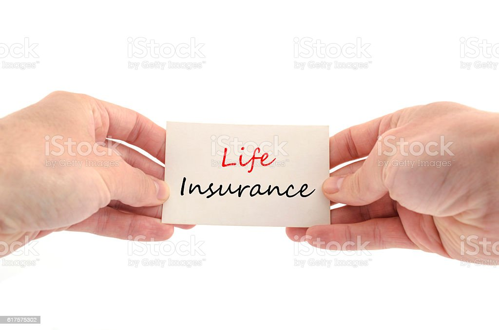 Life insurance text concept stock photo
