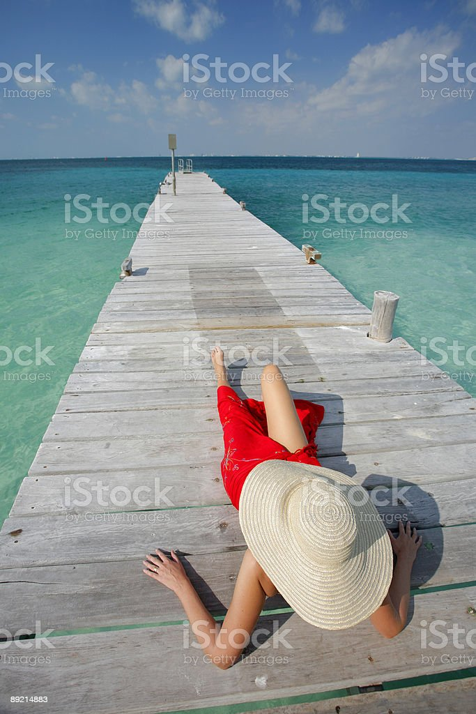 Life is a Beach (Jetty) royalty-free stock photo