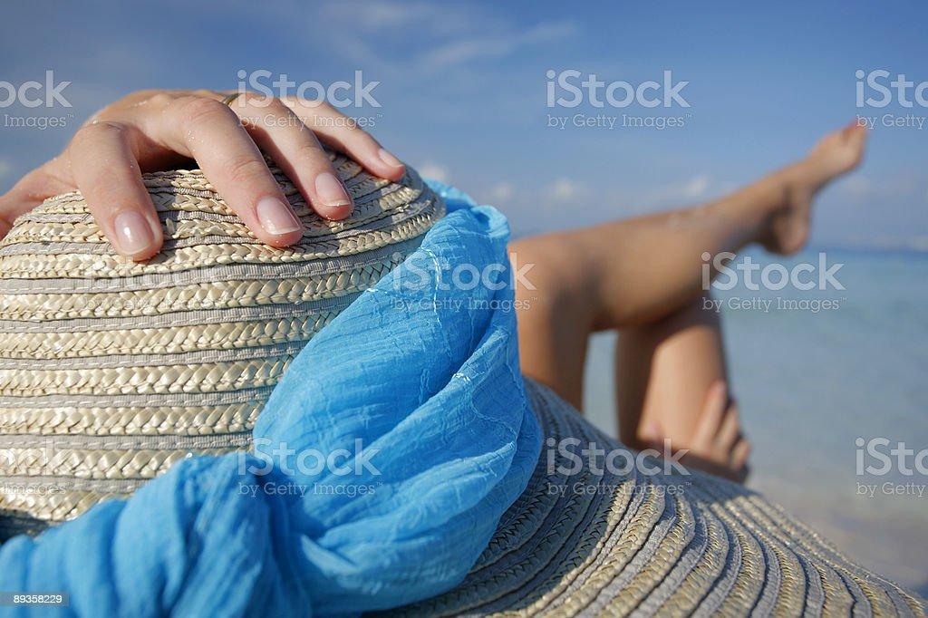 La vita è come la spiaggia foto stock royalty-free