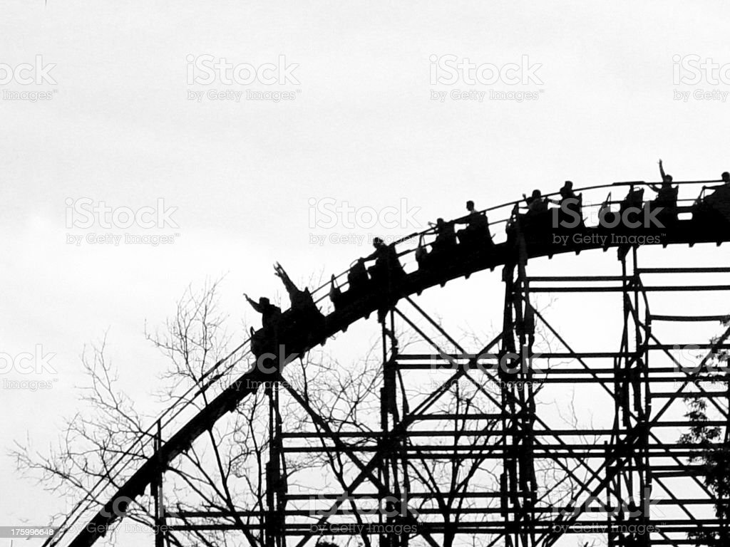 life is a roller coaster royalty-free stock photo