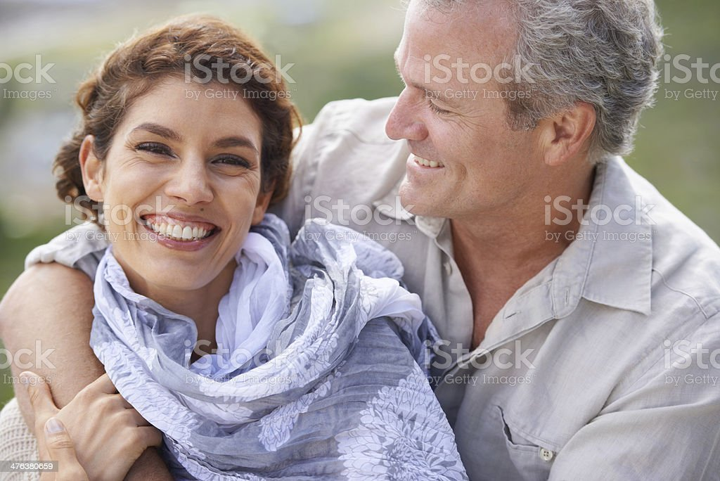 Life is all about love and laughter royalty-free stock photo