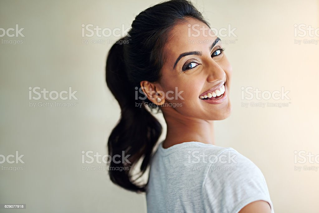 Life is beautiful. Smile as much as you can stock photo