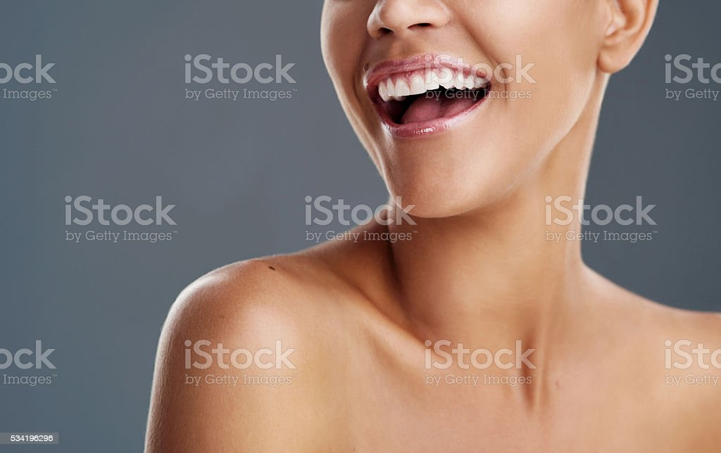 Life is beautiful when you're smiling stock photo