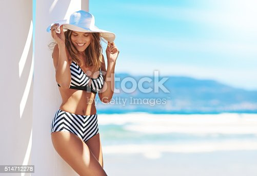 Shot of an attractive young woman posing in her bikini