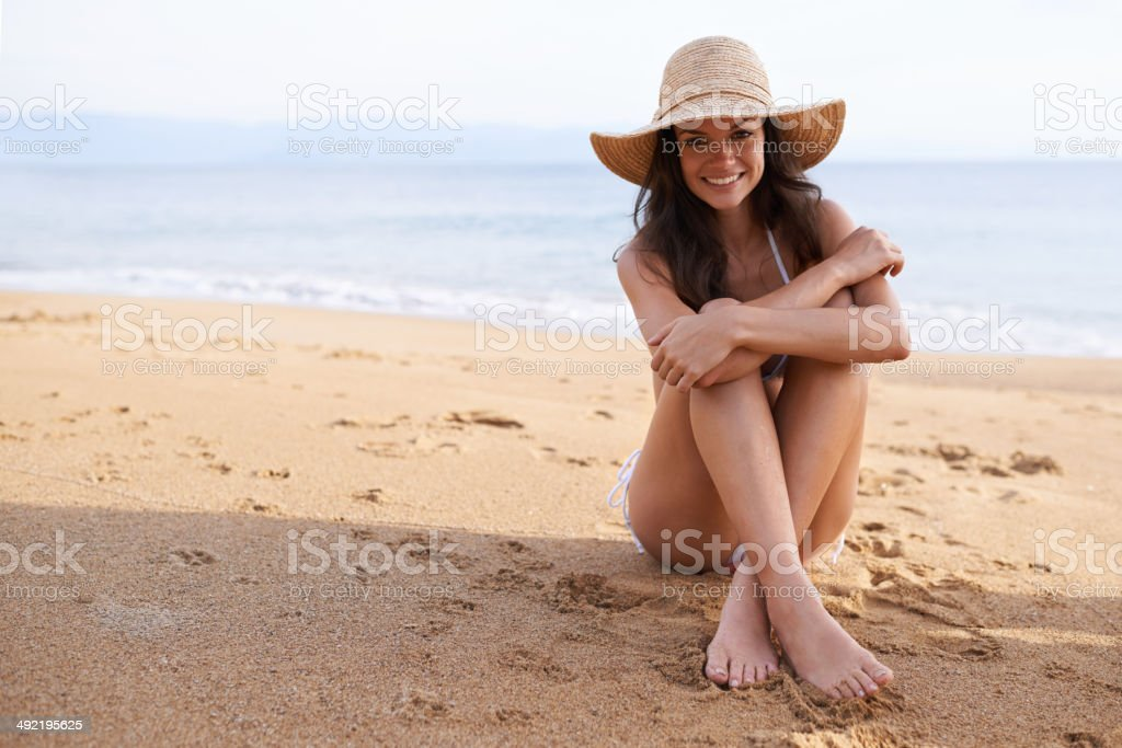 Life is better on the beach! stock photo