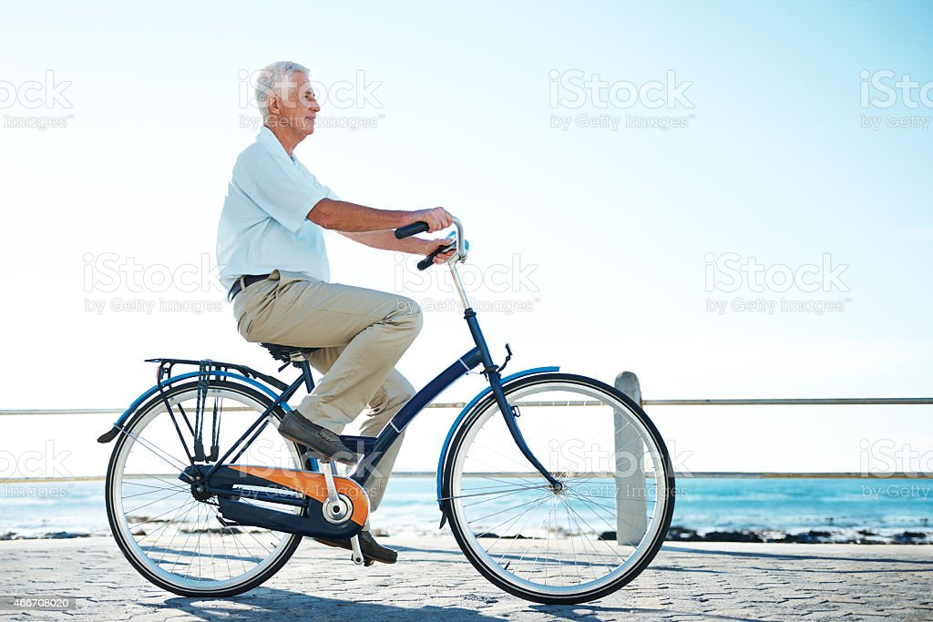 Life is brighter when you're on your bike stock photo