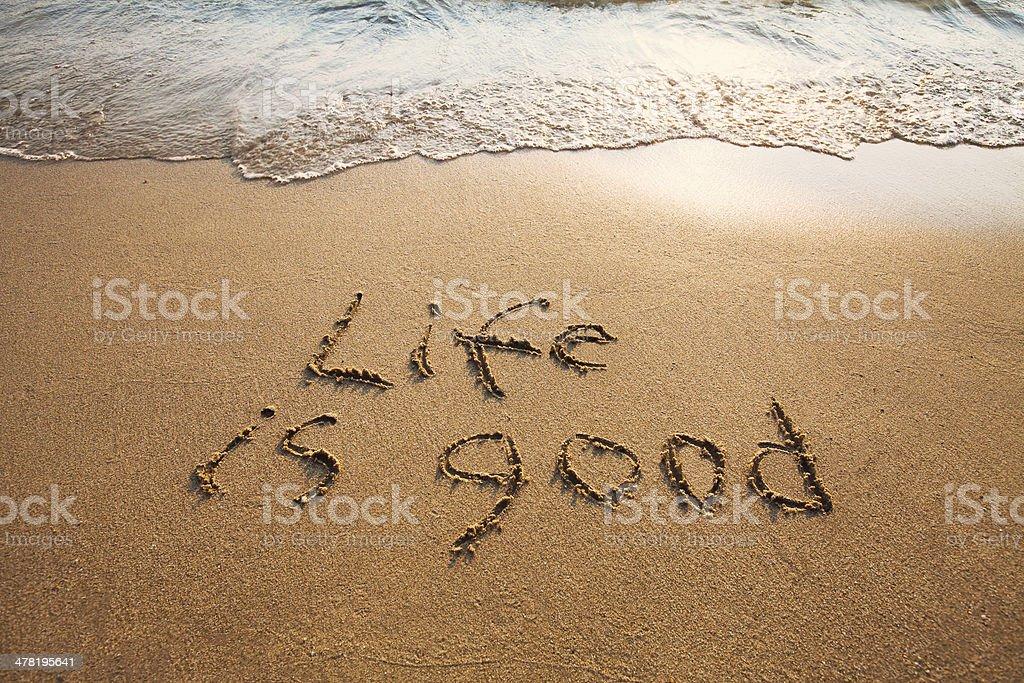 life is good stock photo