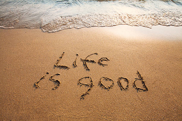 life is good - positive energy stock photos and pictures