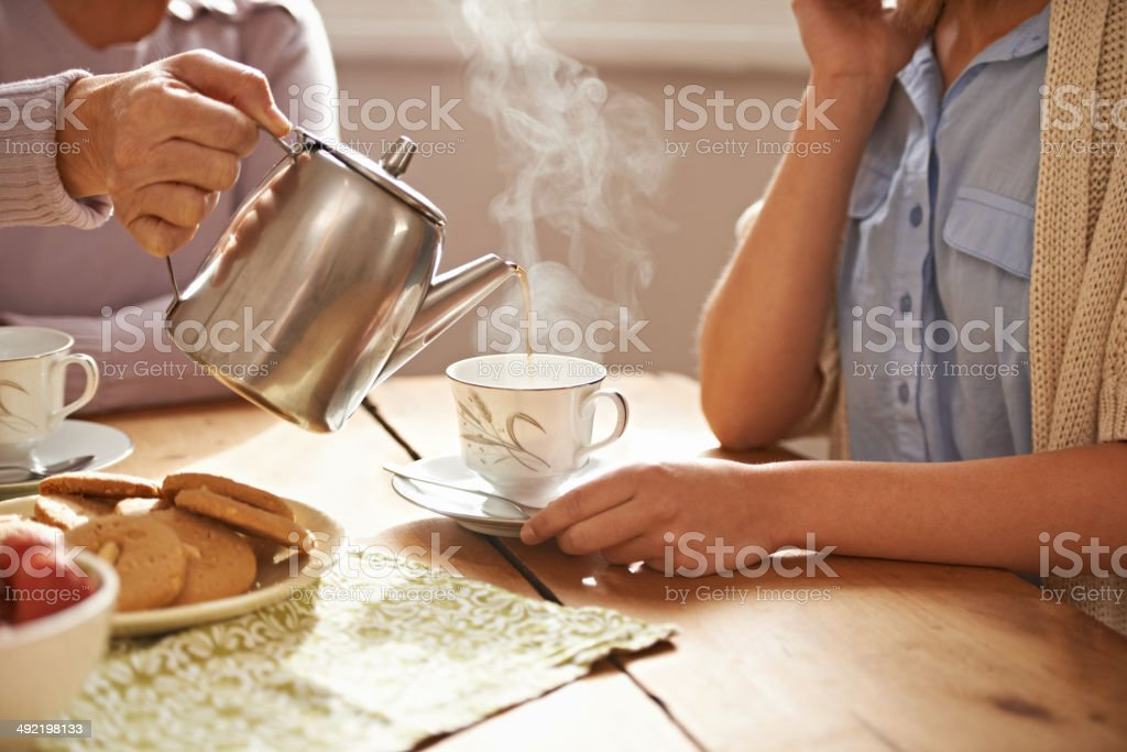 Life is like a tea cup stock photo