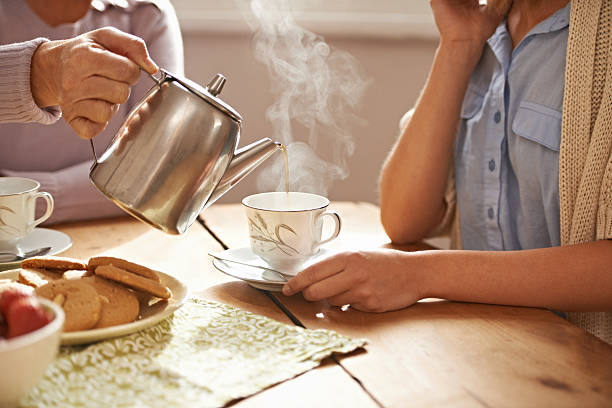 life is like a tea cup - tea hot drink stock photos and pictures