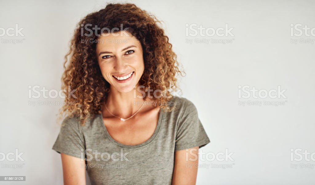 Life is too short not to smile stock photo