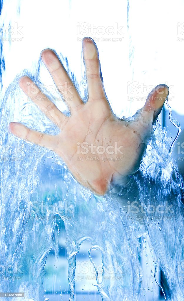 life is water, stop wasting it stock photo