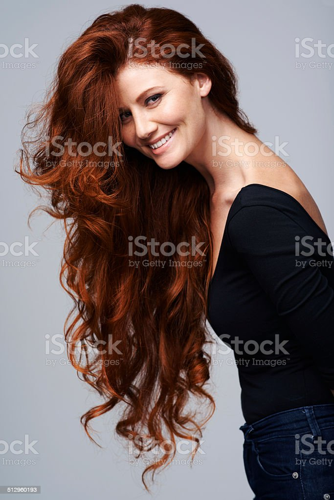 Life isn't perfect but at least my hair is stock photo