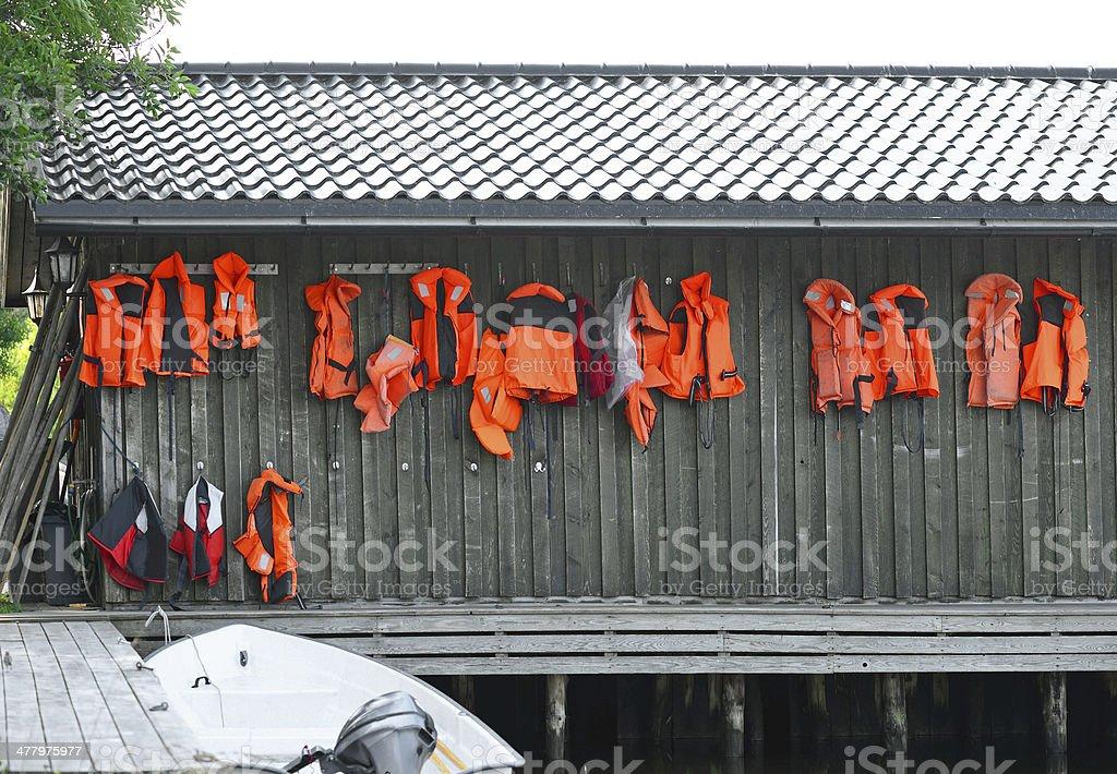 Life jackets royalty-free stock photo