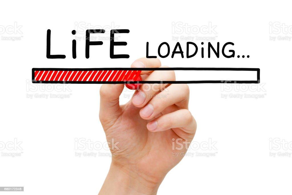 Life Loading Bar Concept stock photo