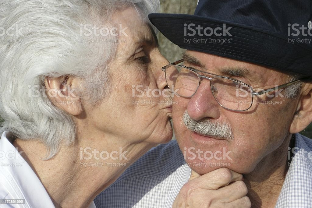 Life Long Lovers (Senior Citizens) royalty-free stock photo