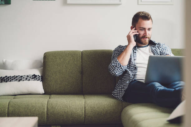 Life of a freelancer - Working from home stock photo