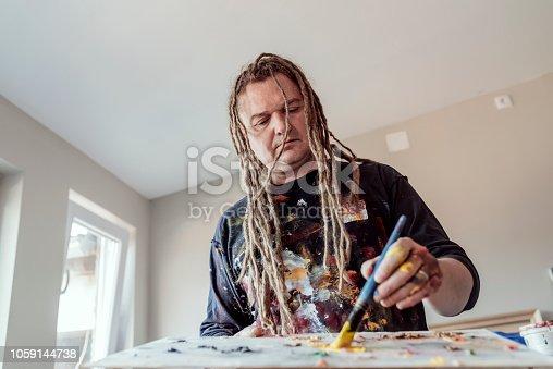 istock Life of artist 1059144738