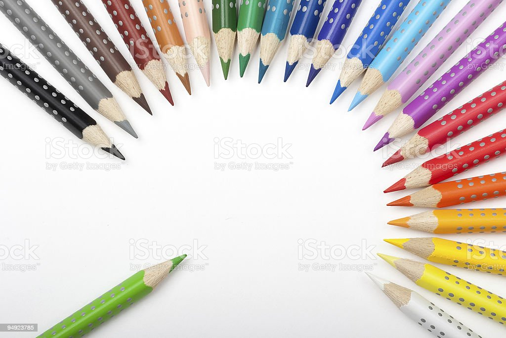 Life of color pencils royalty-free stock photo