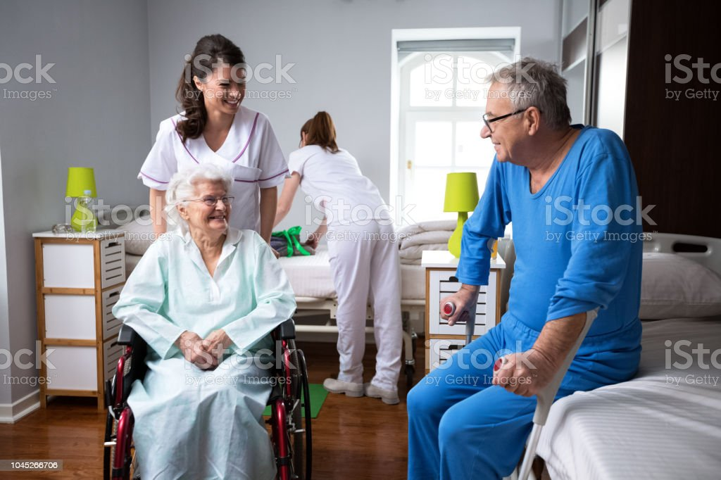 Life Of Elderly People At Nursing Home Stock Photo Download Image Now Istock