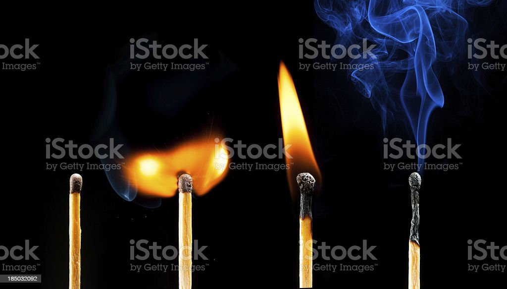 life of matches royalty-free stock photo