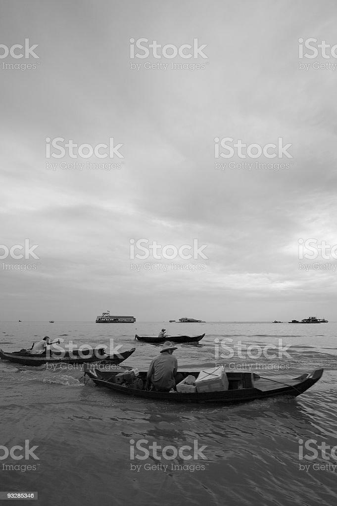 Life on Tonle Sap Lake stock photo
