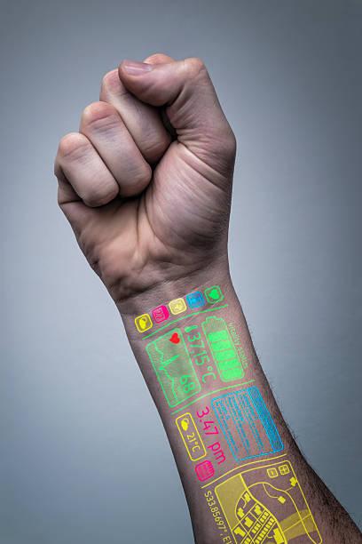 life online-multimedia-seite - tatto vorlagen stock-fotos und bilder