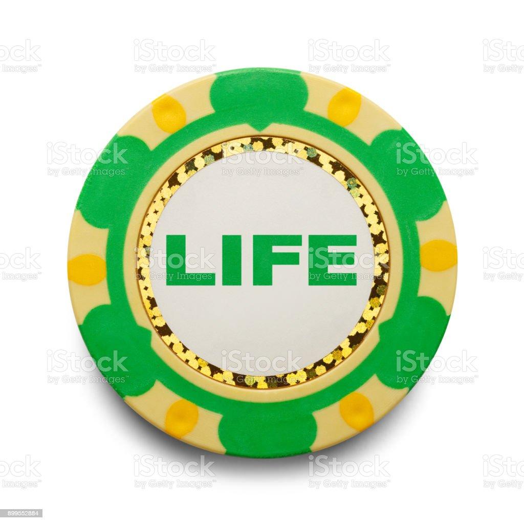 Life Poker Chip stock photo