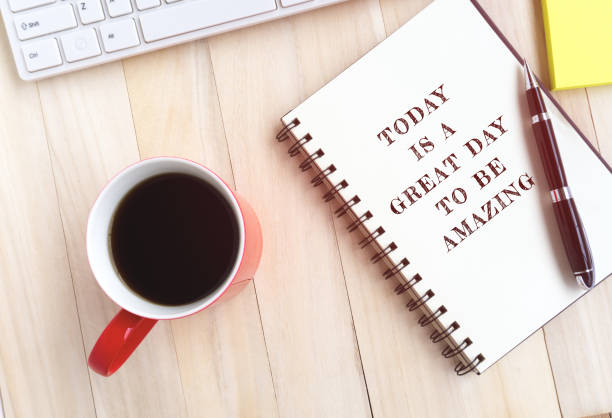 life quote - today is a great day to be amazing - monday motivation stock photos and pictures
