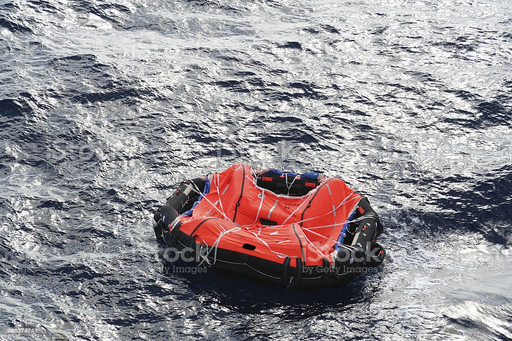 Life Raft stock photo