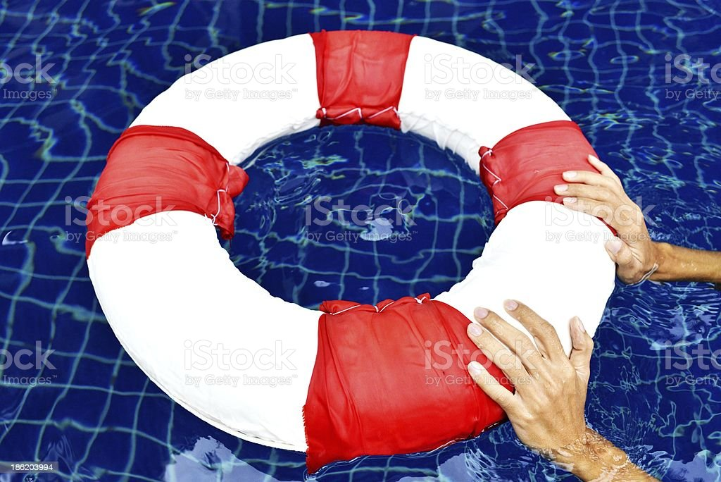 Life ring floating royalty-free stock photo