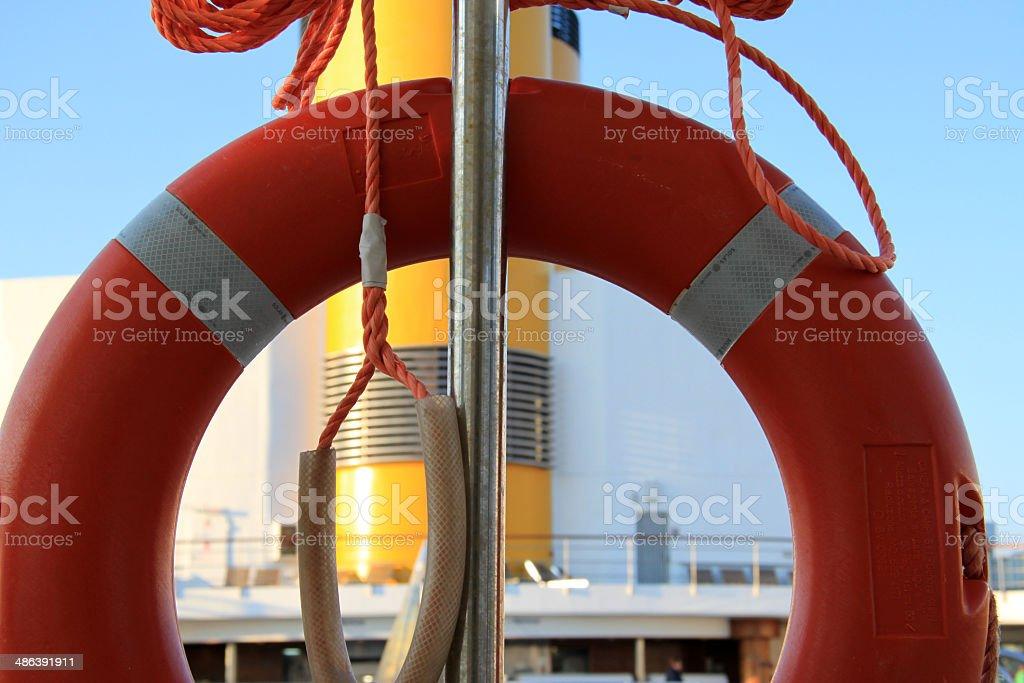 Life ring on cruise ship n.2 royalty-free stock photo