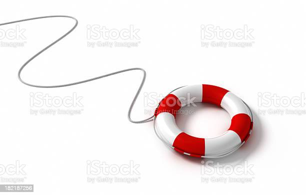 Life Saving Ring Attached To A Rope Stock Photo - Download Image Now
