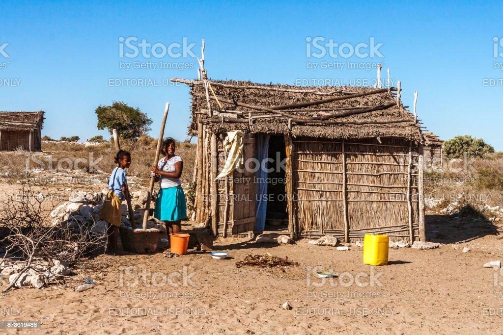 Leven scène in Madagaskar foto
