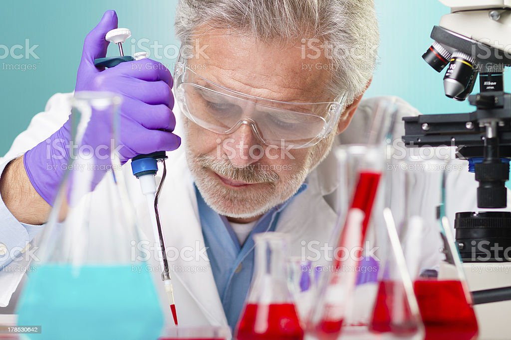 Life science research. royalty-free stock photo
