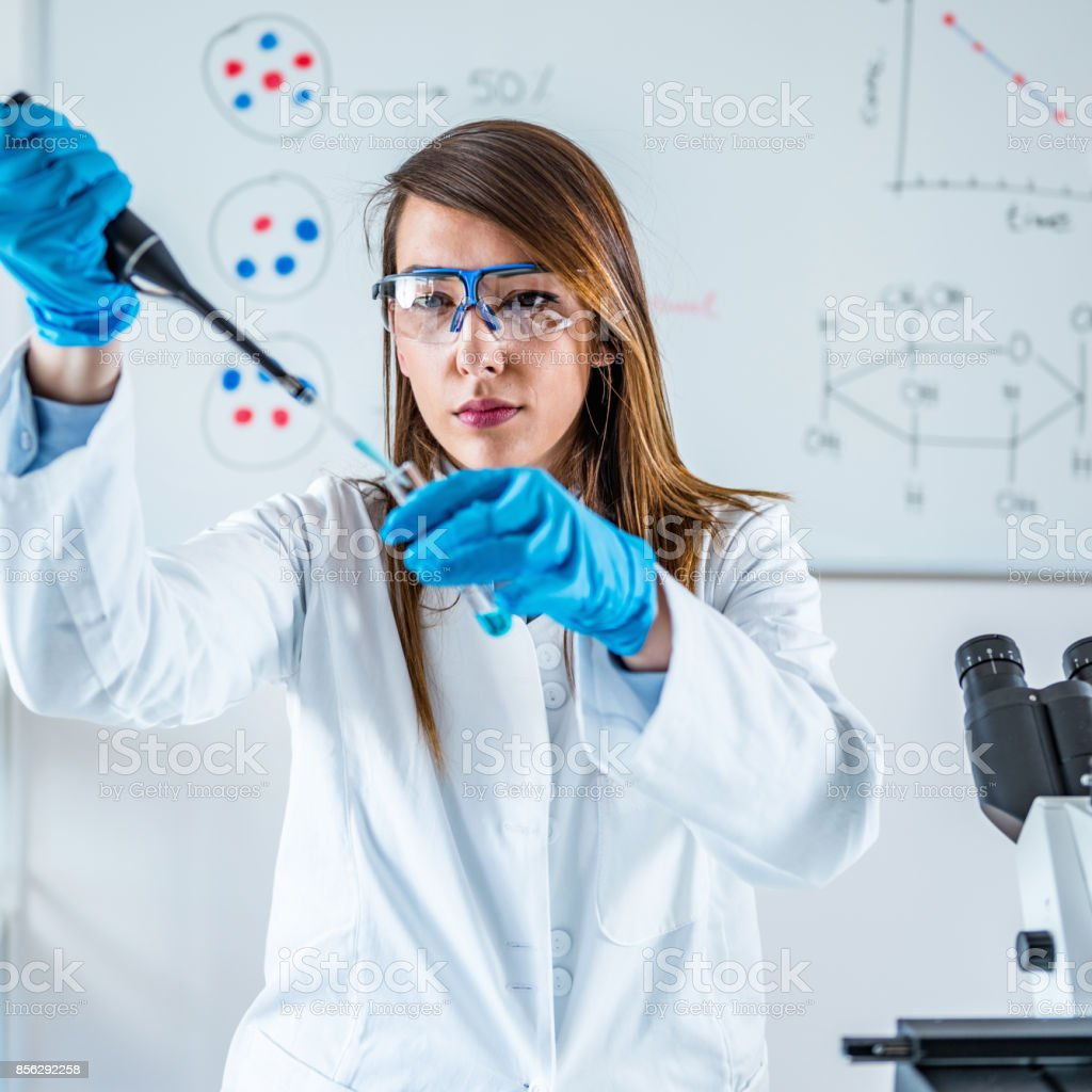 Life science research stock photo