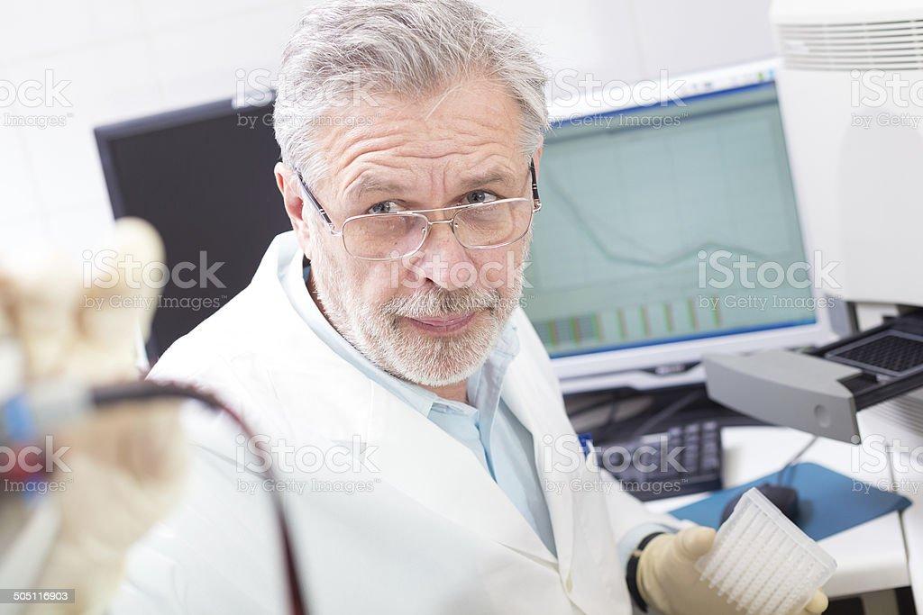 Life Wissenschaftler Forschung im Labor. Lizenzfreies stock-foto