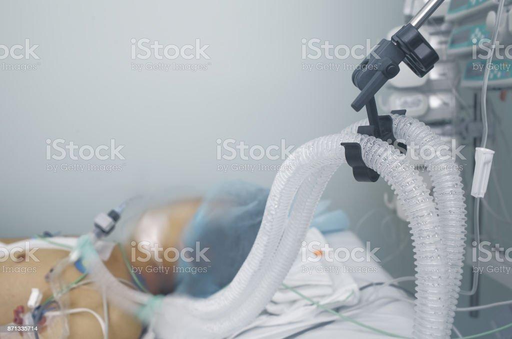 Leben des Patienten zu unterstützen. Foto mit Platz für text – Foto