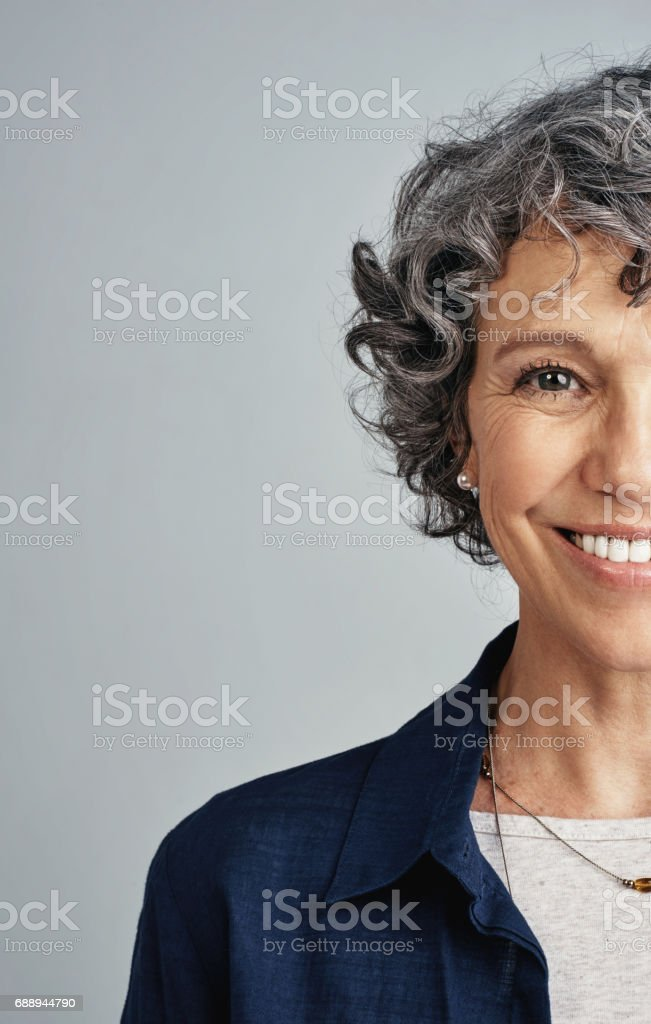 Life - this is only the half of it stock photo