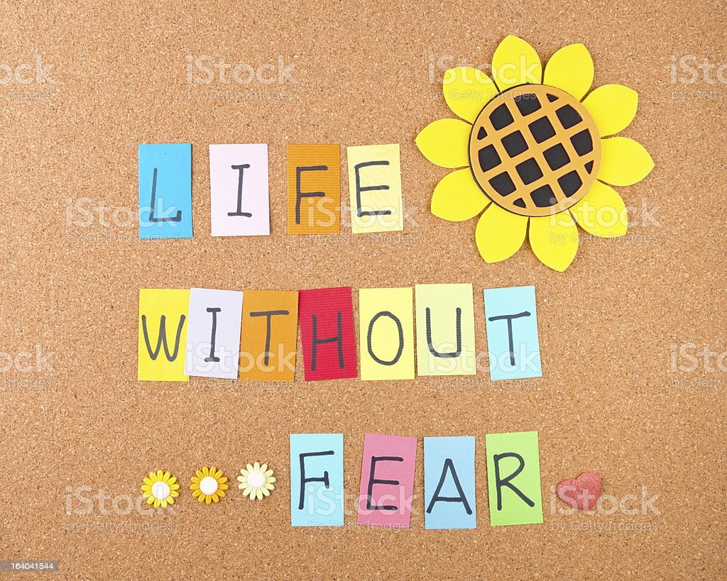 Life without fear royalty-free stock photo