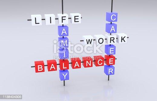 171274866 istock photo Life, Work and Balance. 1138404305