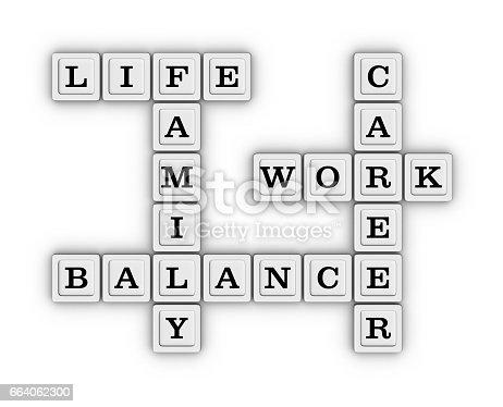171274866 istock photo Life Work Balance Crossword Puzzle. 664062300
