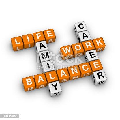 171274866 istock photo Life Work Balance Crossword Puzzle. 668354826