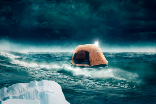 livbåt enheter på havet - livbåt bildbanksfoton och bilder