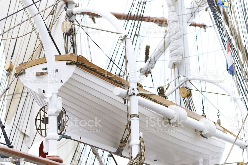 Lifeboat on the ship royalty-free stock photo